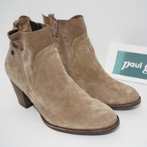 Paul Green Water Resistant Ankle Boots Tan Brown